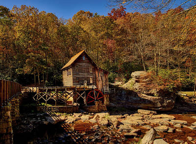 Photograph - Glade Creek Grist Mill In Autumn by L O C