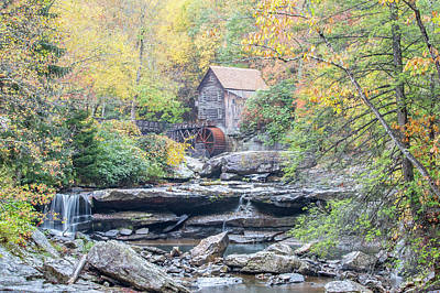 Featured Tapestry Designs - Glade Creek Grist Mill in Autumn by M C Hood