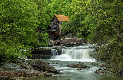 Photograph - Glade Creek Grist Mill In May by Chris Berrier