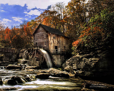 Photograph - Glade Creek Grist Mill by Mark Allen