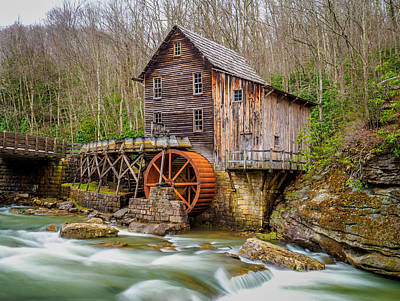 Print featuring the photograph Glade Creek Grist Mill by Steve Zimic