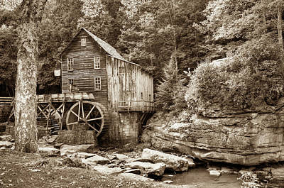 Photograph - Glade Creek Grist Mill - West Virginia - Sepia Edition  by Gregory Ballos