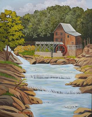 Glade Creek Grist Mill West Virginia Sold Art Print by Ruth  Housley
