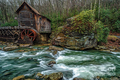 Photograph - Glade Creek Gristmill In February by Thomas R Fletcher