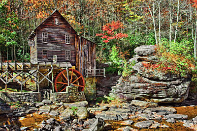 Foliage Photograph - Glade Creek Gristmill by Marcia Colelli