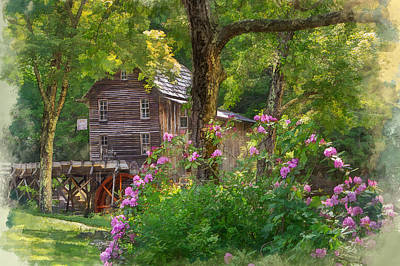 Photograph - Glade Creek Mill Babcock State Park by Mary Almond