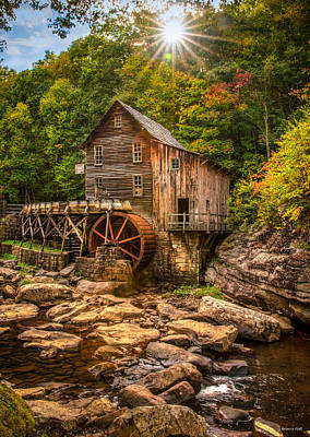 Photograph - Glade Creek Mill Fall by Rebecca Hiatt