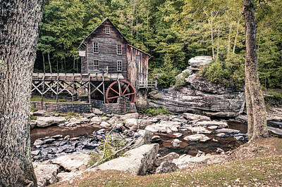 Photograph - Glade Creek Mill Landscape - West Virginia by Gregory Ballos
