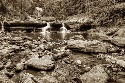 Photograph - Glade Creek Mill Landscape - West Virginia - Sepia by Gregory Ballos