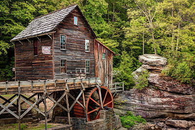 Photograph - Glade Creek Mill - West Virginia by Gregory Ballos