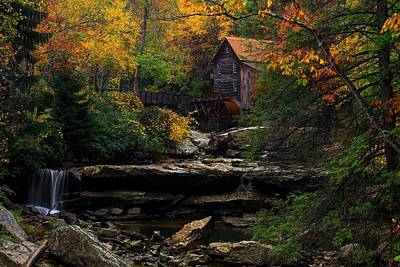 Photograph - Glades Creek Grist Mill West Virginia by Carol Montoya