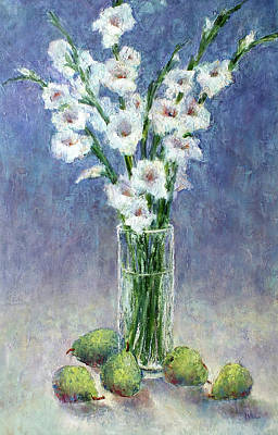 Painting - Gladiolas And Pears by Jill Musser