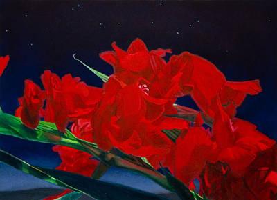 Constellations Painting - Gladiolas by Gregory Van Raalte