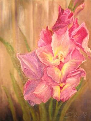Painting - Gladiolas by Sherril Porter