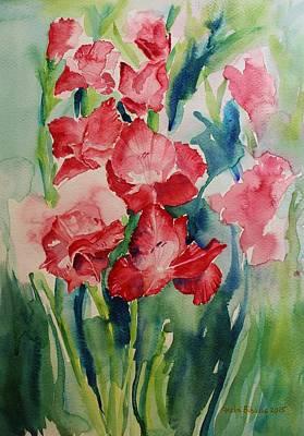 Painting - Gladioli Still Life by Geeta Biswas