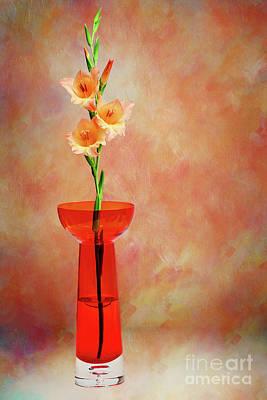 Photograph - Gladioli Still Life II By Kaye Menner by Kaye Menner