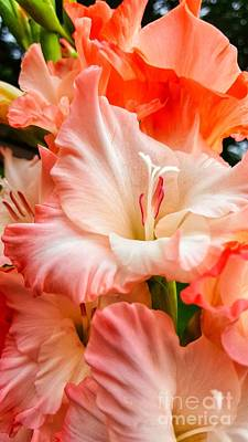 Target Threshold Watercolor - Gladiolus Divine by Rachel Hannah