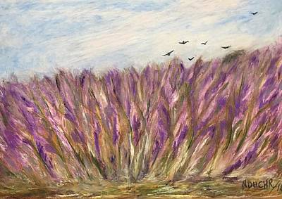 Painting - Gladiolus Field by Norma Duch