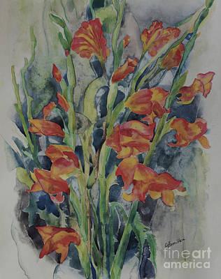 Painting - Gladiolus Flowers by Olga Hamilton