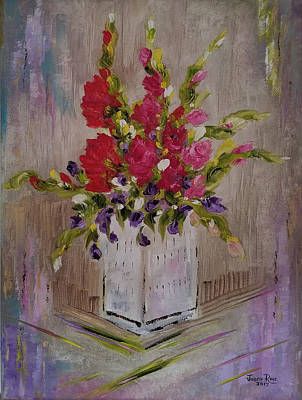 Painting - Gladiolus On Point by Judith Rhue
