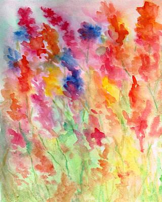 Painting - Gladiolus by Rosie Brown
