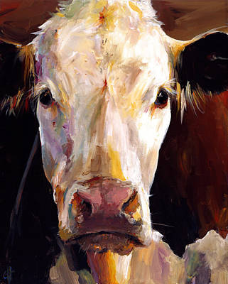 Brown Painting - Gladys The Cow by Cari Humphry