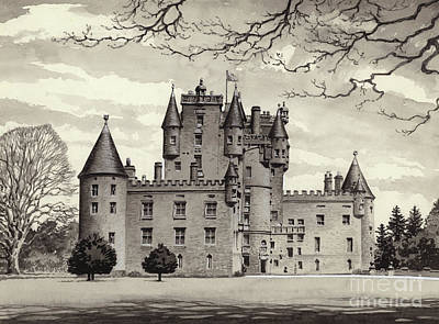 Haunted House Painting - Glamis Castle by Pat Nicolle