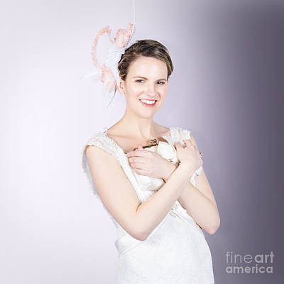 Clutch Bag Photograph - Glamorous Bride With Beautiful Bridal Accessories by Jorgo Photography - Wall Art Gallery