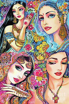 Painting - Glamorous India by Eva Campbell