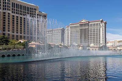 Photograph - Glamorous Musical Patterns - The Dancing Fountains At Bellagio Las Vegas by Georgia Mizuleva