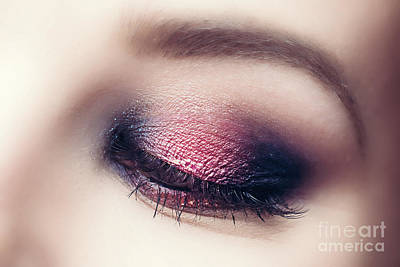 Photograph - Glamour Makeup And Perfect Eyebrow Close-up. by Michal Bednarek