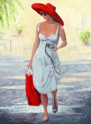 Painting - Glamour On A Stroll by Connie Schaertl