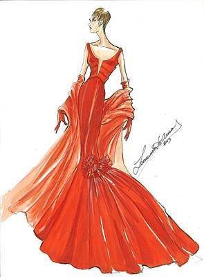 Glamour Sketches Art Print