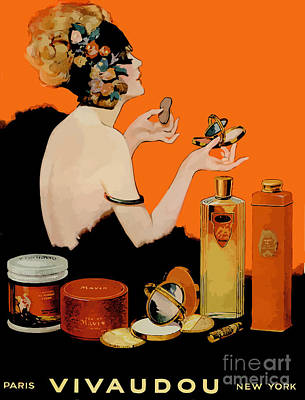 Painting - Glamour Vintage Art Deco Cosmetics by Mindy Sommers