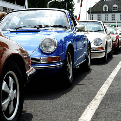 912 Digital Art - Glamourous Porsches On A Ferry by 2bhappy4ever