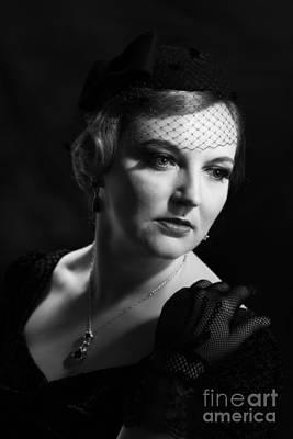 Glamourous Twenties Style Woman Art Print