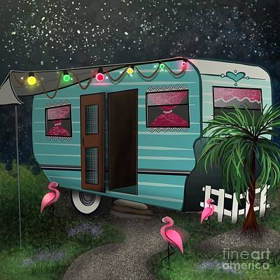 Digital Art - Glamping by J Kinion