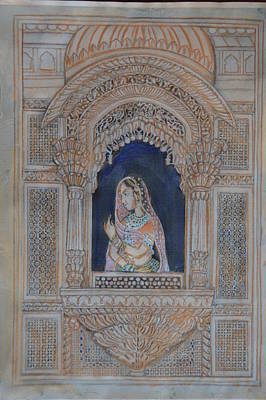 Painting - Glancing From Her Window by Vikram Singh