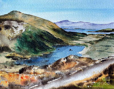 Painting - Glanmore Lake, Healy Pass, Beara, Cork by Val Byrne
