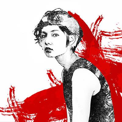 Portraits Digital Art - Glare by Katherine Smit