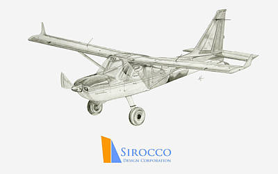 Glasair Sportsman Tc With Sirocco Design Corp. Winglets Logo 3 Art Print by Nicholas Linehan