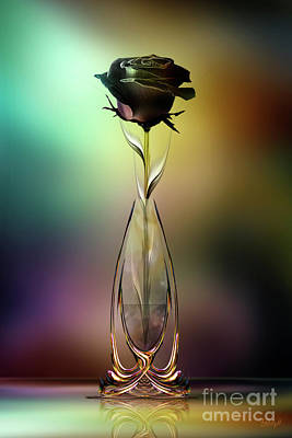 Digital Art - Glasblower's Rose by Johnny Hildingsson