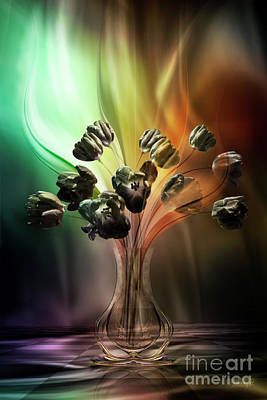 Digital Art - Glasblower's Tulips by Johnny Hildingsson