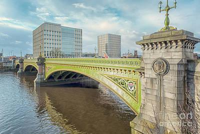 Photograph - Glasgow Albert Bridge by Antony McAulay