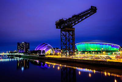 Glasgow At Night Art Print