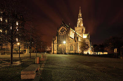 Photograph - Glasgow Cathedral Night by Grant Glendinning