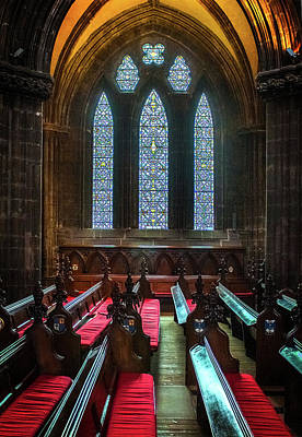 Photograph - Glasgow Cathedral Window by Bud Simpson