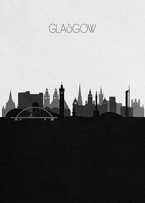 Digital Art - Glasgow Cityscape Art by Inspirowl Design