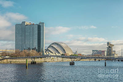 Photograph - Glasgow Clydeside Cityscape by Antony McAulay