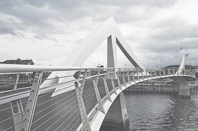 Photograph - Glasgow Squiggly Bridge. Vintage Collection by Jenny Rainbow